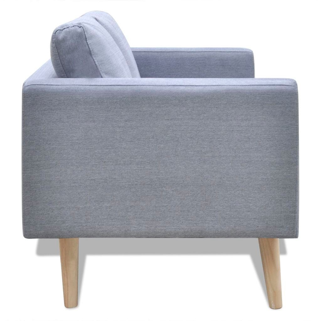 Grey Lounge Suite: VidaXL 2-Seater Sofa Fabric Light Grey Modern Couch Lounge
