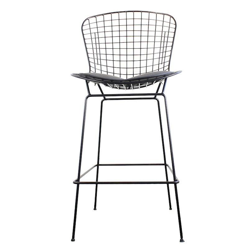 Astonishing Replica Harry Bertoia Wire Stool Black Black Evergreenethics Interior Chair Design Evergreenethicsorg