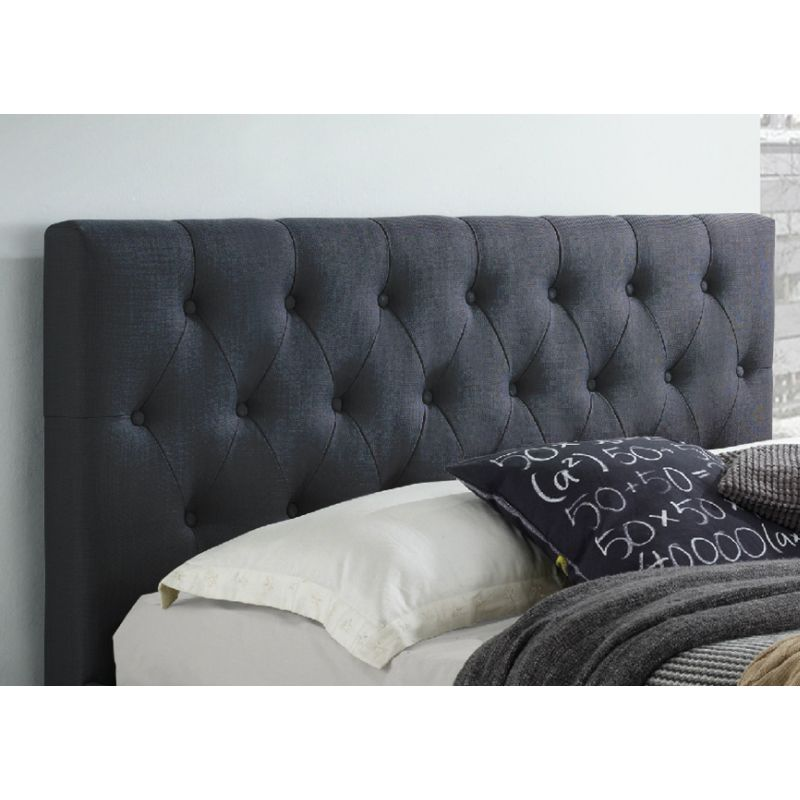 Polo Double Fabric Upholstered Bed Head Dark Grey Buy