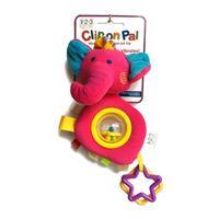 123 Grow Clip on Pal - Elephant - Pink