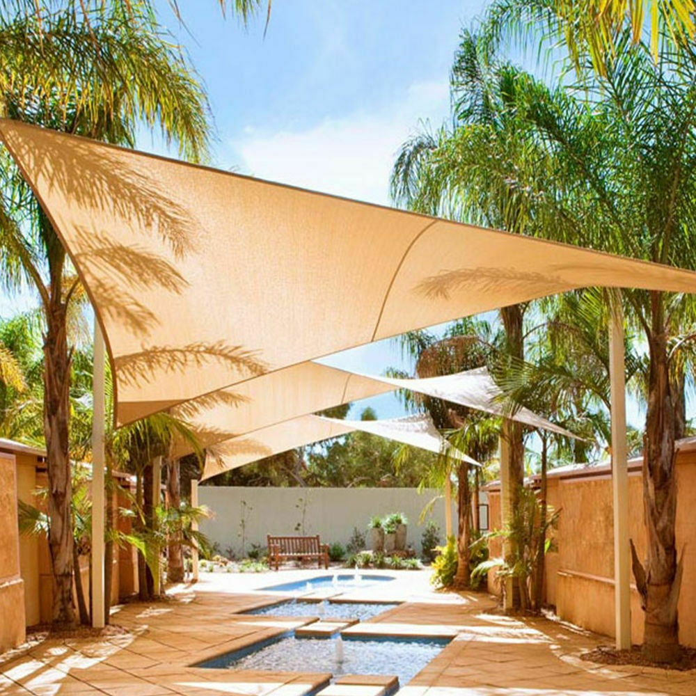 180/280 GSM Heavy Duty Shade Sail Sun Canopy Outdoor ...