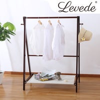 Levede Clothes Rack Stand Garment Hanger Rail Foldable Wooden Organiser Closet