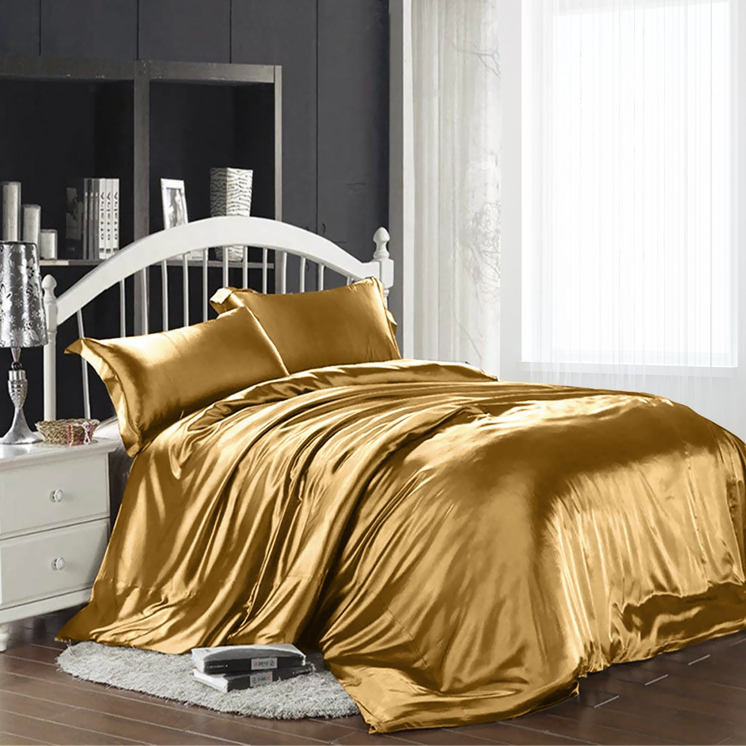 1000tc Silk Satin S Double Queen King Size Bed Quilt Duvet