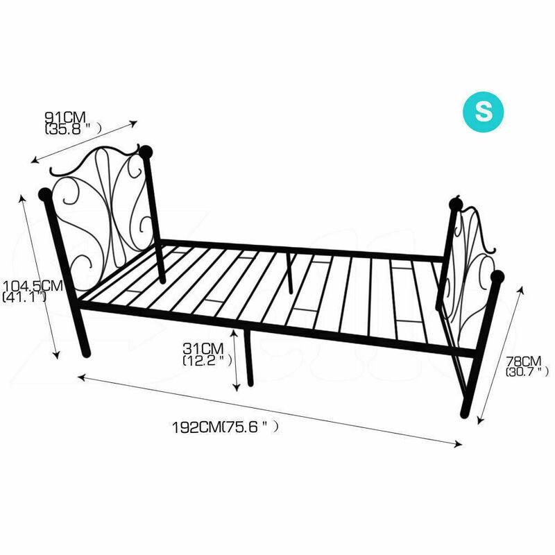 Levede Double Queen King Single Metal Bed Frame Platform