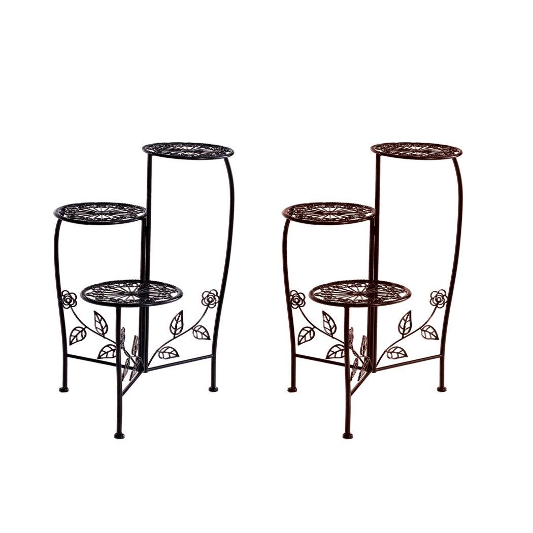 4X Metal Plant Stand Garden Decor Flower Pot Shelves Outdoor Indoor Wrought Iron