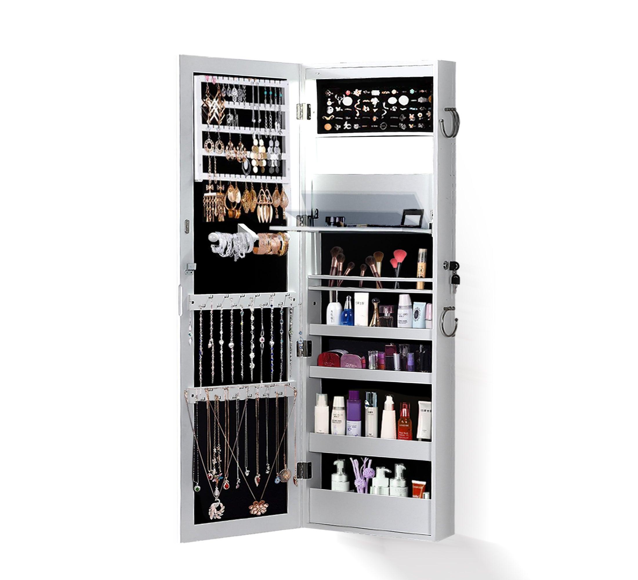 Mirror Jewellery Cabinet Storage Organiser Box Makeup Full ...