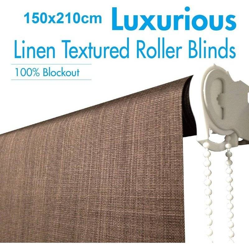 Polyester Blockout Roller Blinds Coffee 150x210cm Buy