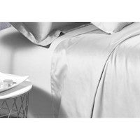 500TC Cotton Sateen White Fitted Sheet (Single / King Single / Queen / King Options)