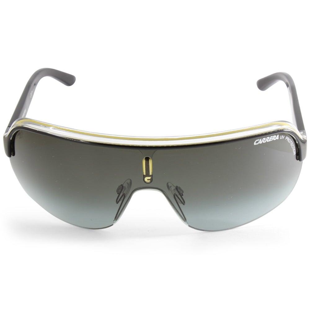RARE NEW Authentic CARRERA TOPCAR 1 Black Crystal Yellow Shield Sunglasses KBNPT