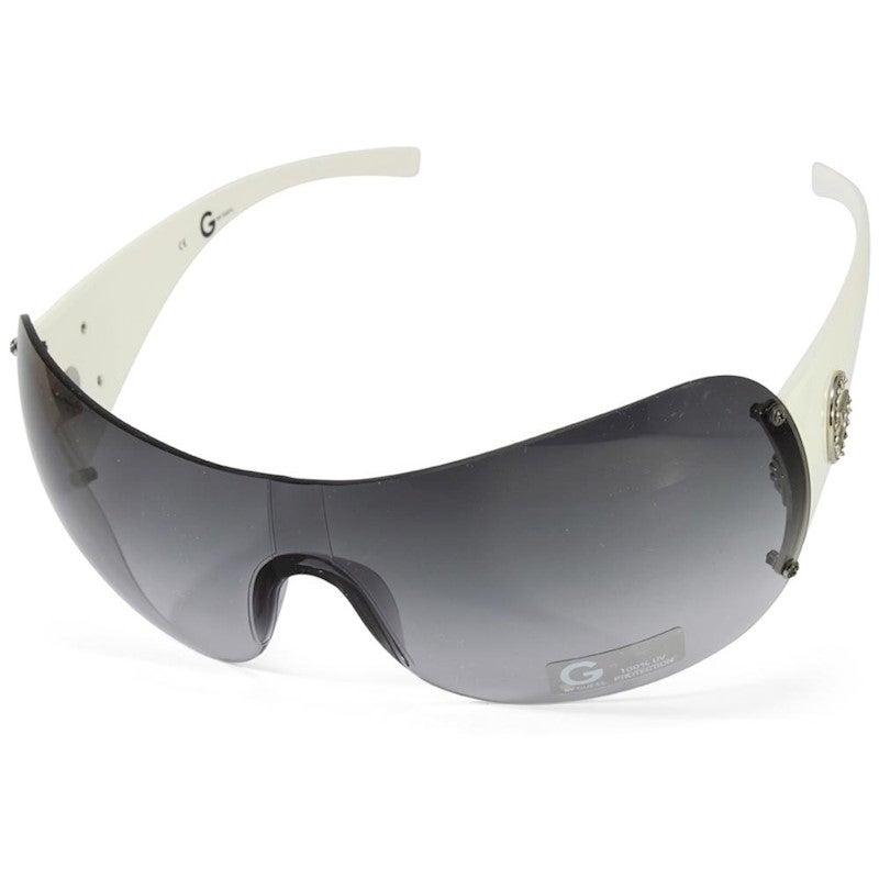 G by Guess GGU1092 WhiteGrey Gradient Women's Shield Sunglasses