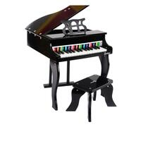 Kids Wooden Pretend Musical Toy Baby Children Grand Style Toy Mini 30 Key Piano