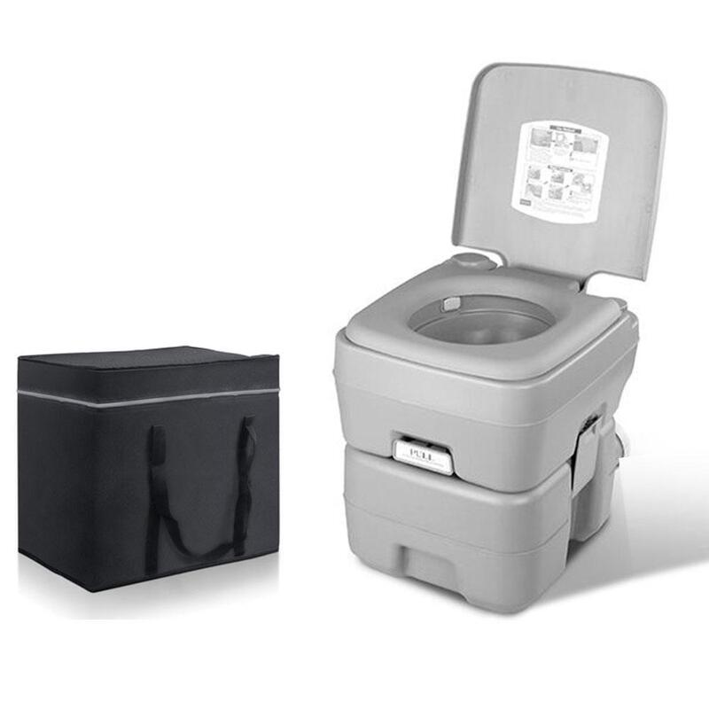 20L Outdoor Portable Camping Toilet Bonus Carry Bag