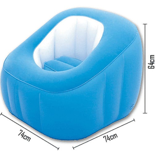 Strange Bestway Cube Inflatable Air Chair Ottoman Indoor Outdoor Blue Onthecornerstone Fun Painted Chair Ideas Images Onthecornerstoneorg