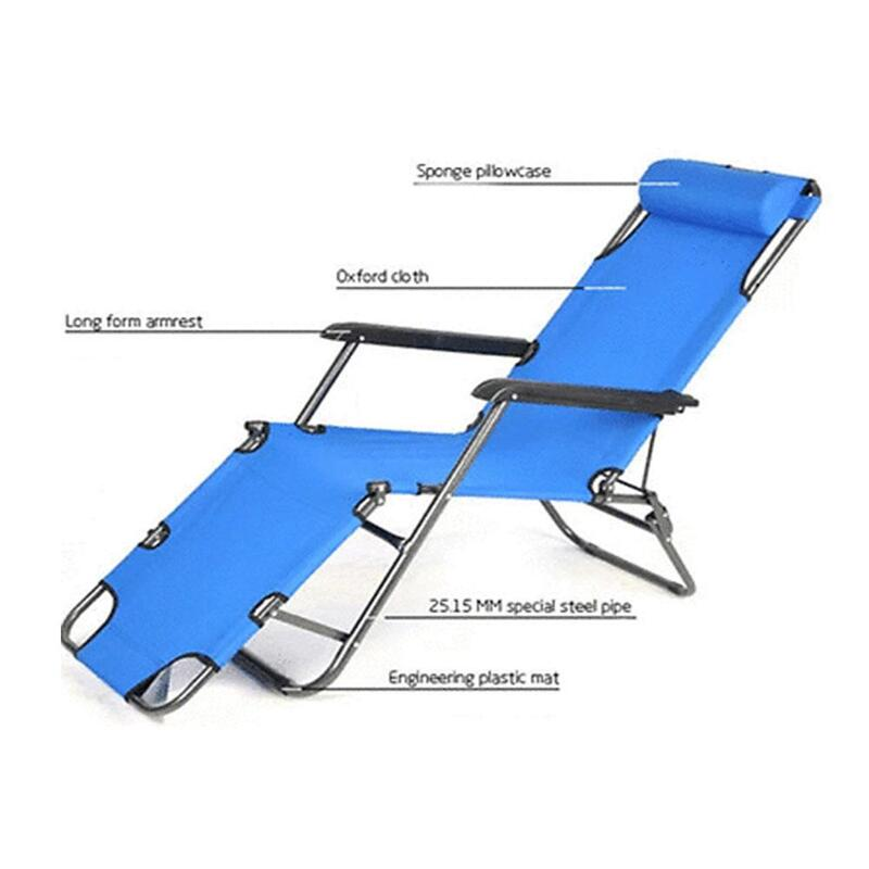 Reclining Sun Beach Deck Lounge Chair Outdoor Folding