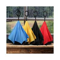 Clever Inverted Closing Umbrellas in 5 Colours