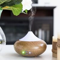 Wood Grain Design Ultrasonic Aroma Mist Diffuser with 7 Colour Lights