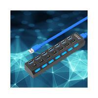 7-Port USB 3.0 Fast Charge Hub with Wall Plug