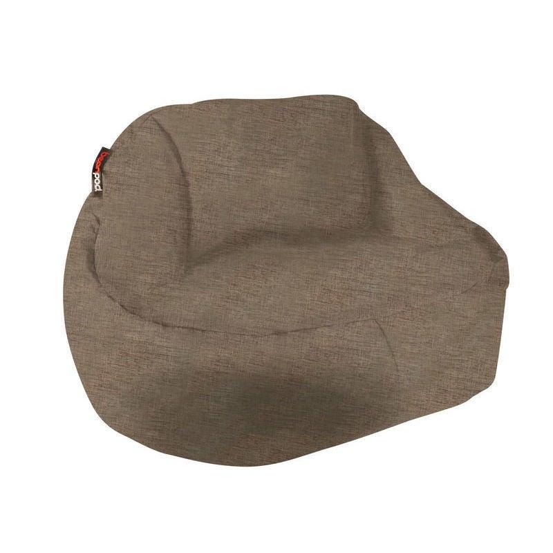 Pleasing Bean Pod Indoor And Outdoor Bean Bag In Espresso Machost Co Dining Chair Design Ideas Machostcouk