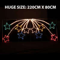 LED Animated 10 Stars Motif Rope Light For Christmas 2.2M