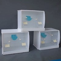 Set of 3 Stackable Canary Finch Breeding Bird Cage with Nest Pan