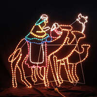 LED Wise Men Riding Camel Motif Rope Light for Christmas Deco