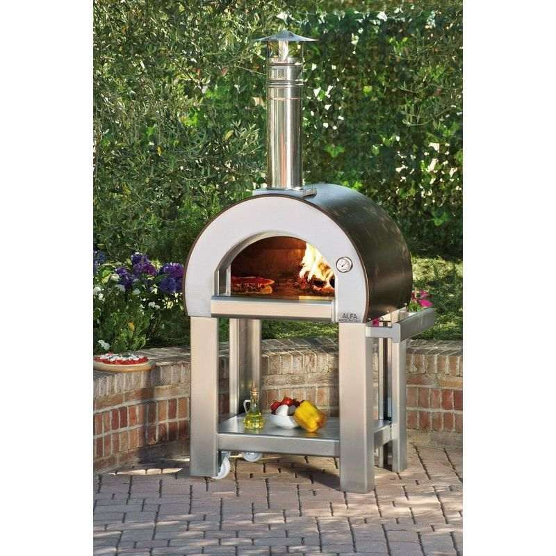 Alfa 5 Minuti Standing Wood Fired Pizza Oven Copper | Buy ...