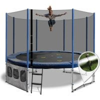Round Summit Family 10ft Trampoline with Ladder
