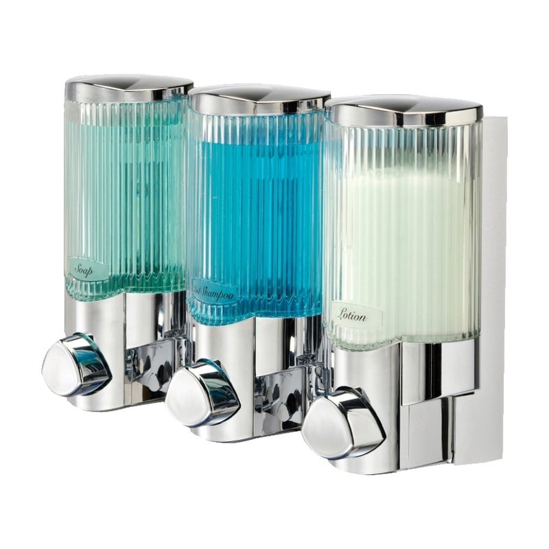 Better Living Signature Dispenser 3 Chrome With Ribbed