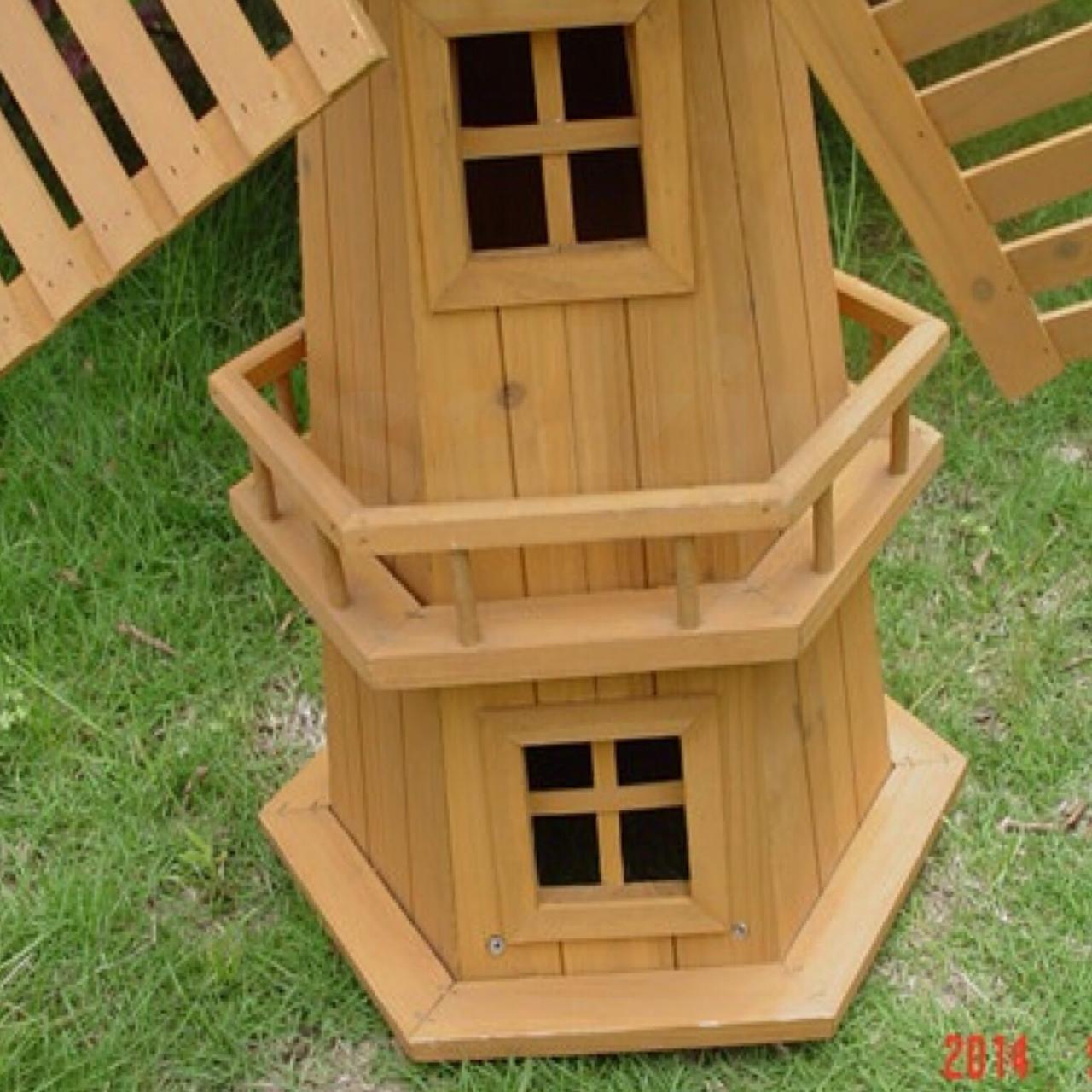 Childrens Craft Make Your Own Wooden Garden Windmill Bird House Paint School New