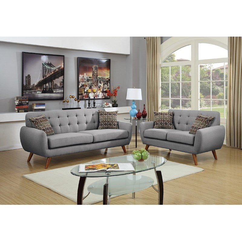 Grey Lounge Suite: Uno 2 & 3 Seater (Light Grey)