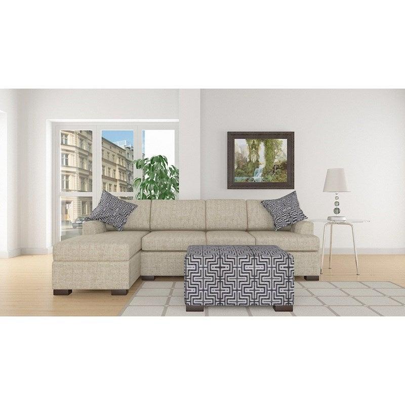 3pc Bahama Sofa W Left Chaise Amp Ottoman In Straw Buy