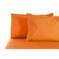 Jenny Mclean Queen Cotton Sheet Set in Orange 400TC