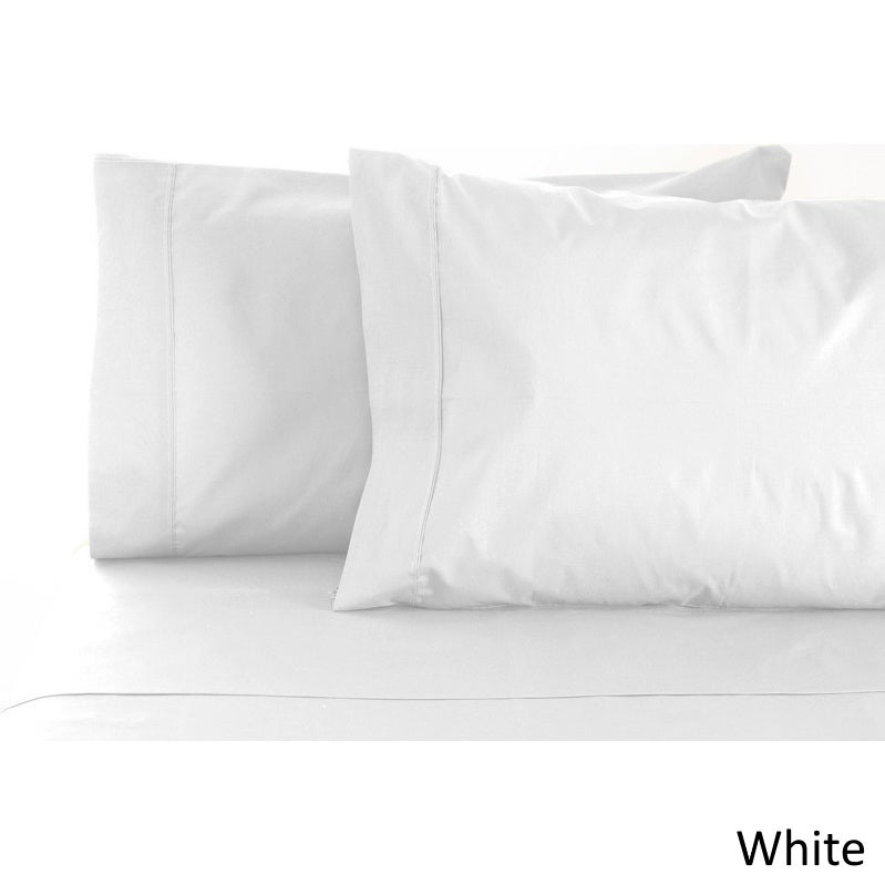 White Solid Egyptian Cotton Sateen