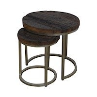 CONCENTRIC SIDE TABLE SET/2