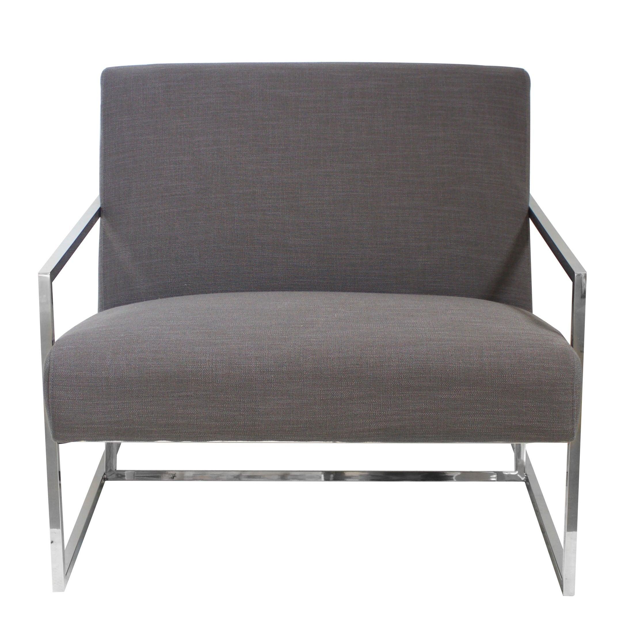 Jaxson Armchair Grey Modern Chrome Legs | Buy Armchairs ...
