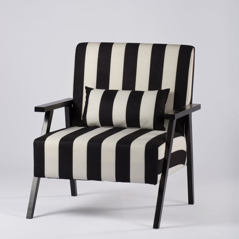STRIPED MONOCHROME ARMCHAIR | Buy Armchairs & Accent ...