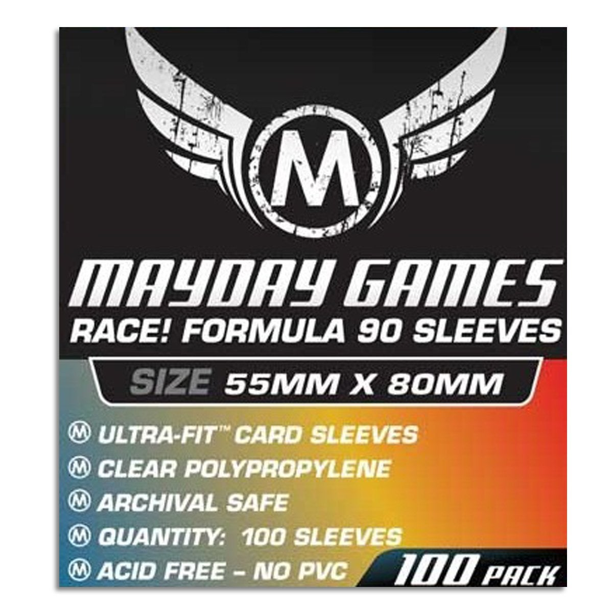 Formula 90 Board Game Card Sleeves Clear Size 55 x 80mm 50ct MAYDAY GAMES Race