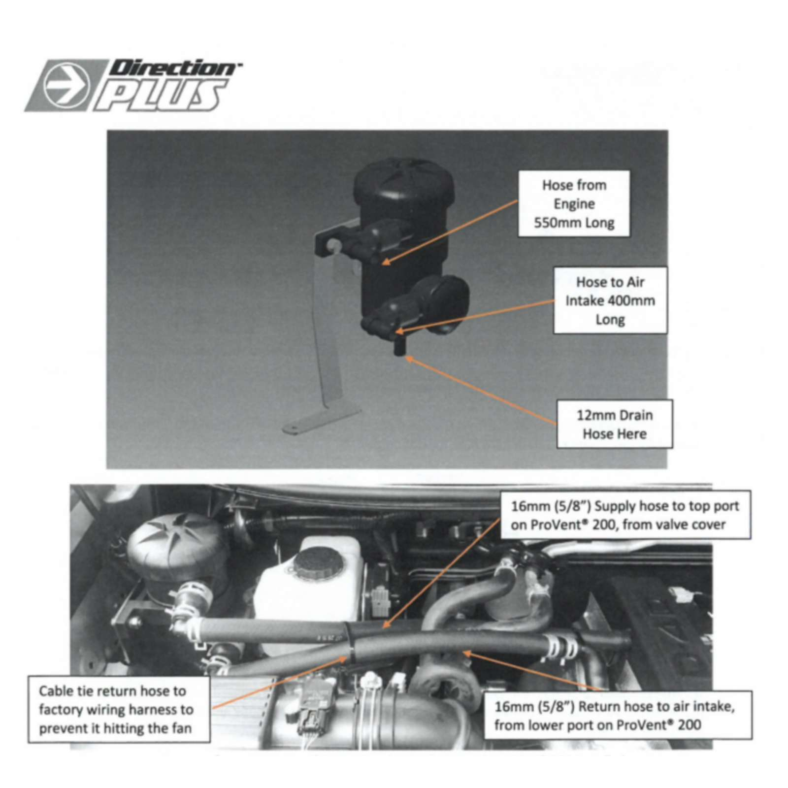 Oil Separator Catch Can Prado KDJ150/155r Turbo Diesel Provent  1GD-FTV2009-2015