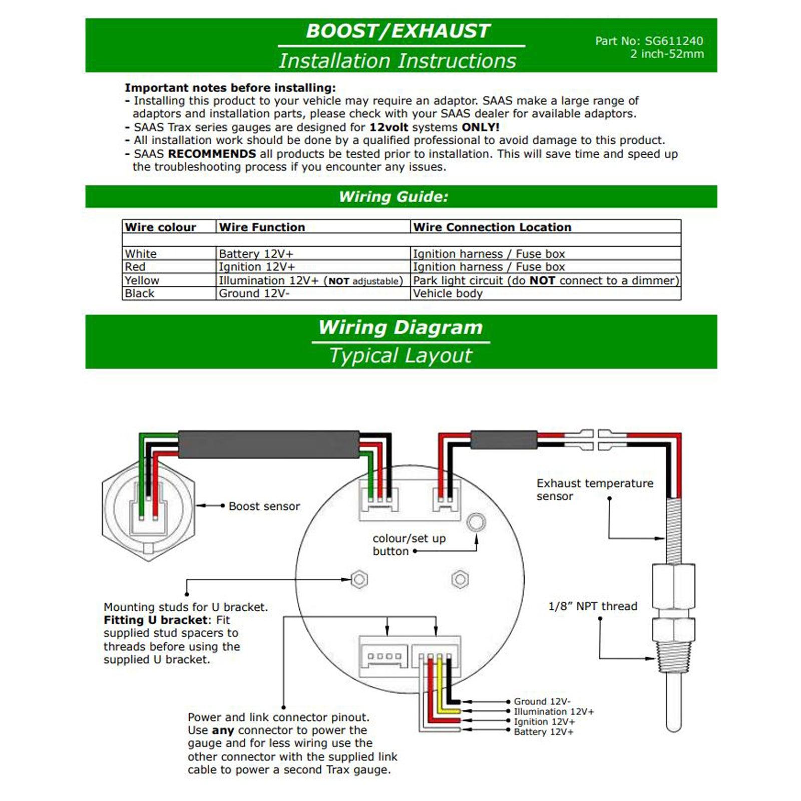 SAAS Pillar Pod w/ Diesel Boost EGT Oil Water Gauges Prado 150 Series 2009  on