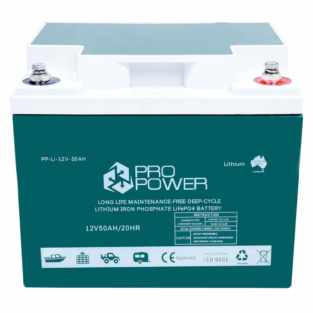 Pro Power 12v Lithium Iron Ion Lifepo4 Deep Cycle Battery