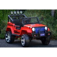 Kids Jeep Style Electric Ride On 4WD Car in Red 24V