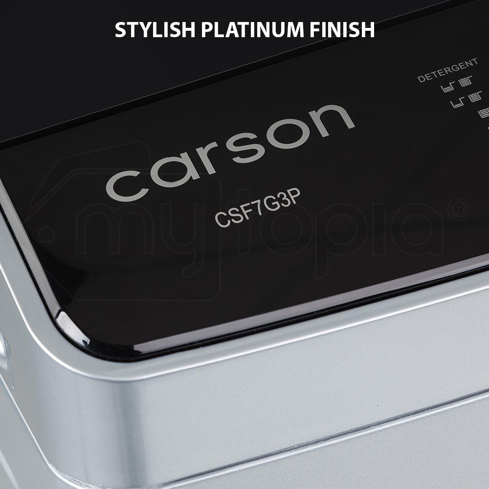 CARSON Washing Machine 7kg Platinum Automatic Top Load ...