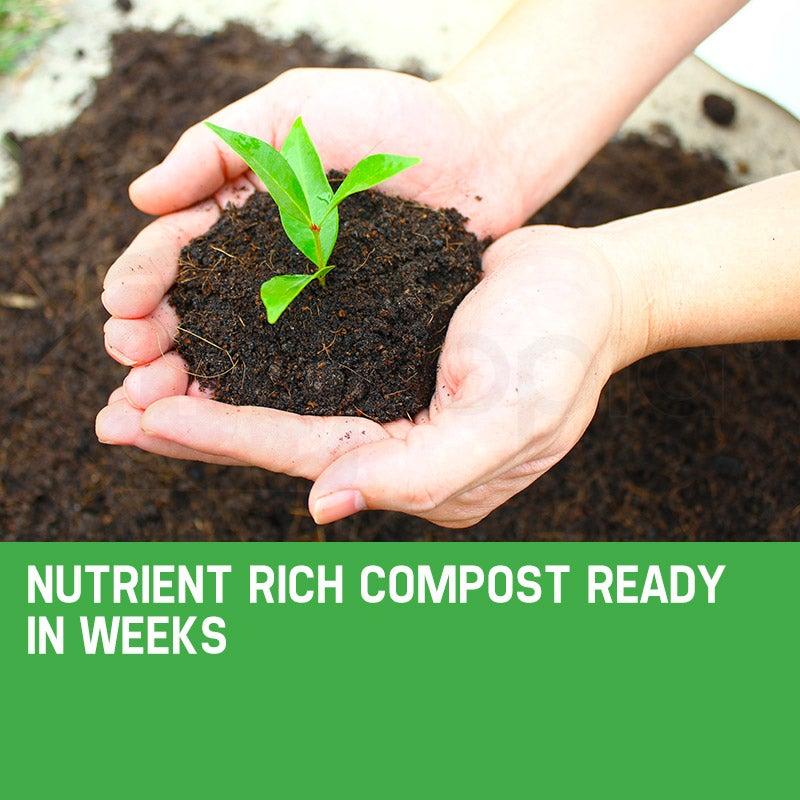 PlantCraft 160L Compost Tumbler Dual Twin Bin Food Waste