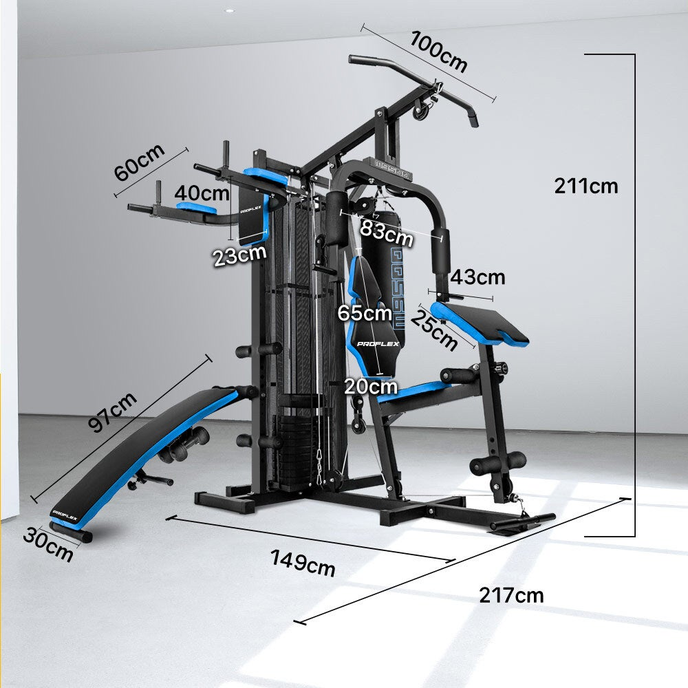 PROFLEX Home Gym Exercise Machine Fitness Equipment Weight ...