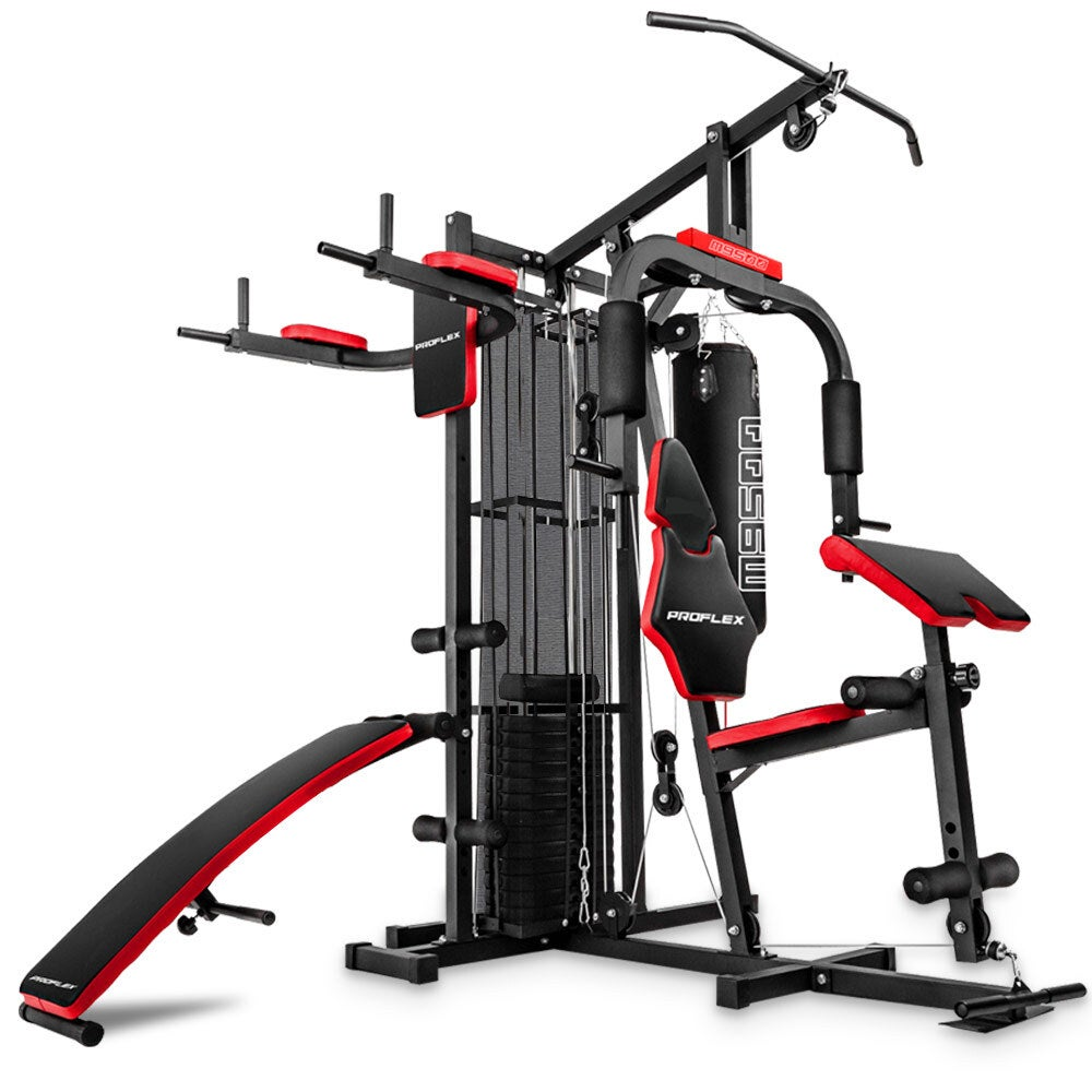 PROFLEX Home Gym Exercise Machine Fitness Equipment Weight Bench Press Set 67KG
