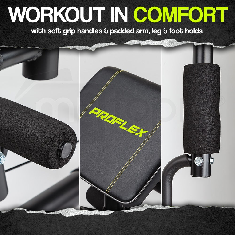 PROFLEX Home Gym Multi-function Exercise Machine Fitness ...