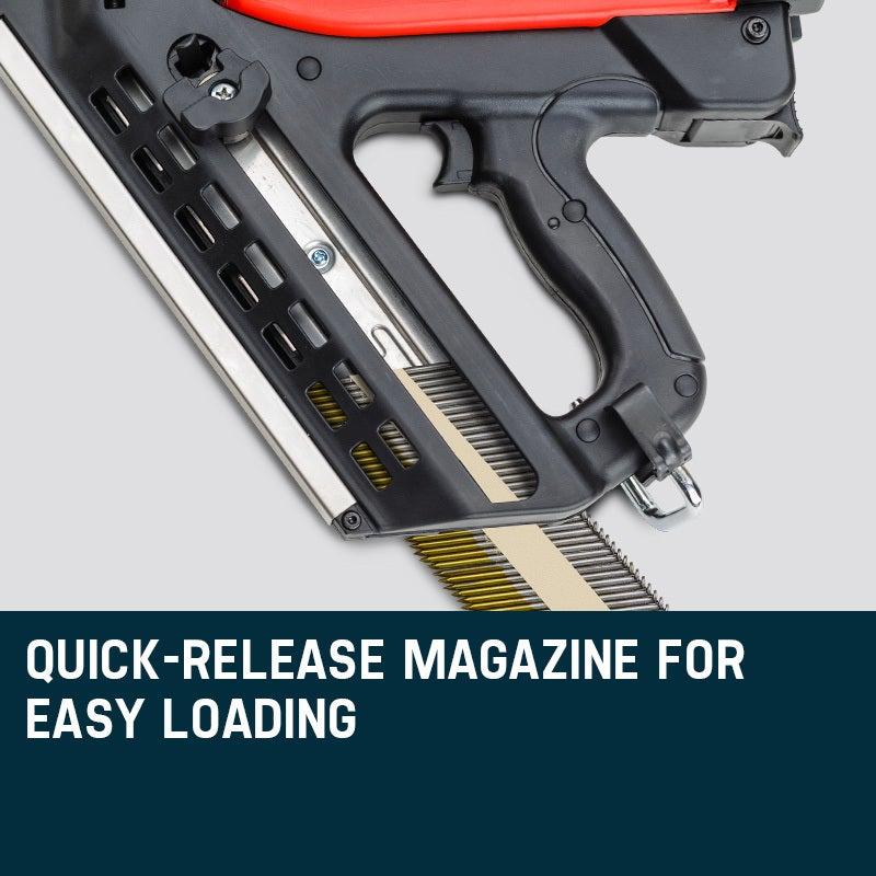 Unimac Cordless Framing Nailer 34 Degree Gas Nail Gun