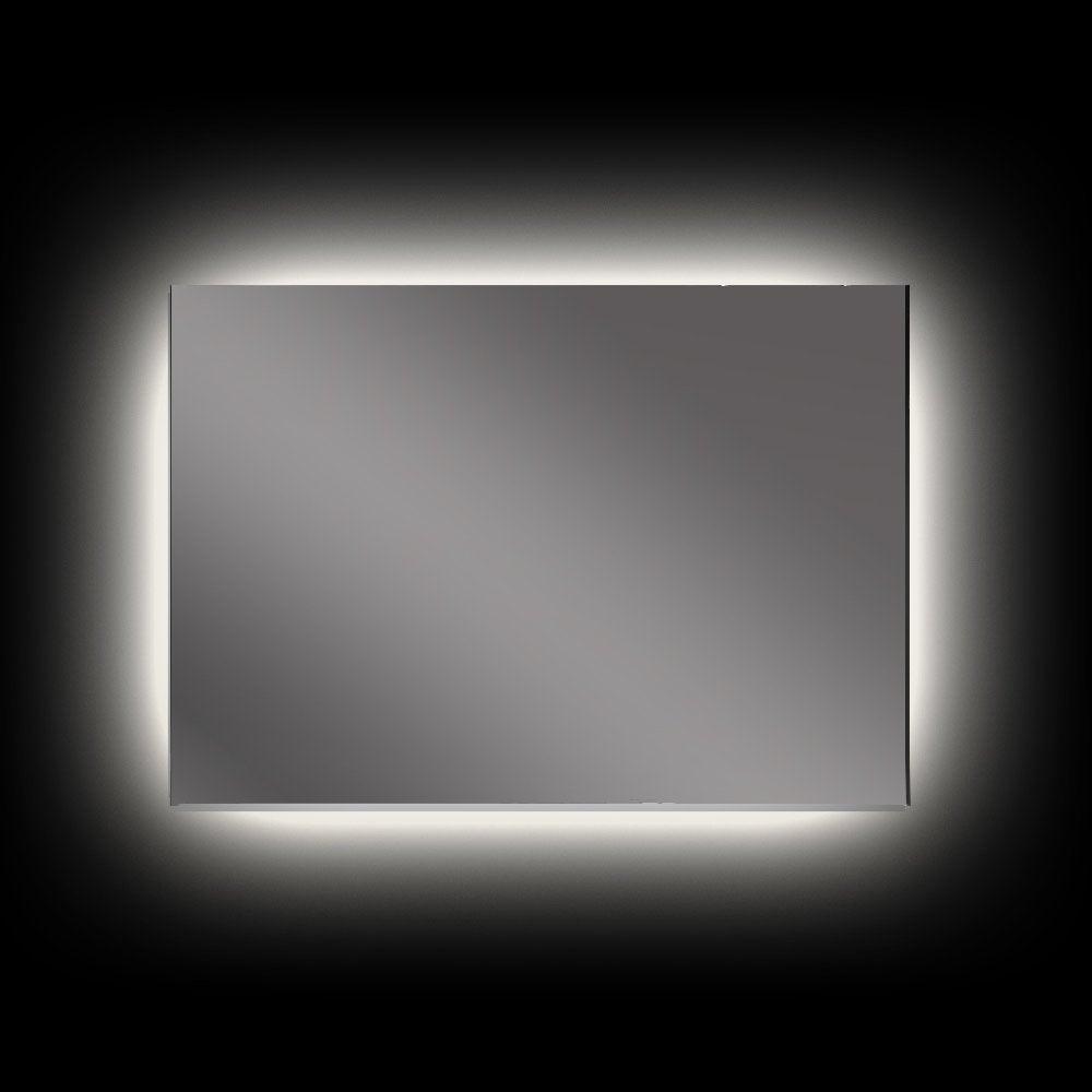 Rear Soft Glow LED Backlit Bathroom Mirror - (90 x 75cm ...