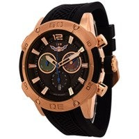 ISW Mens Chronograph Quartz Watch in Black 1002-03