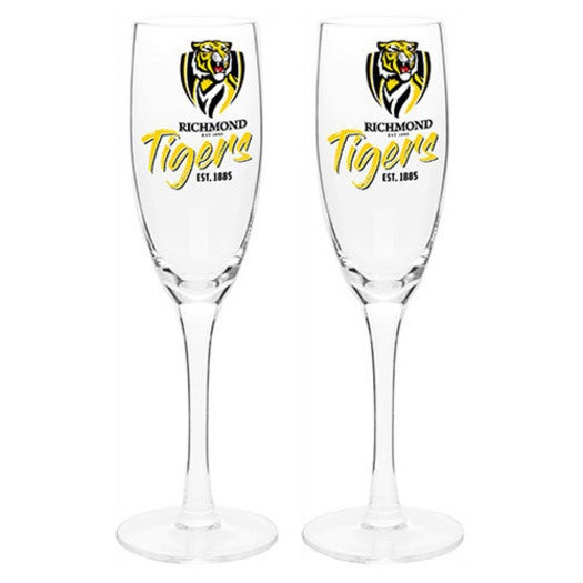 Richmond Tigers Afl Set Of 2 Champagne Glass Glasses Flute Sparkling Wine 210ml Buy Beer Glasses Mugs 919599